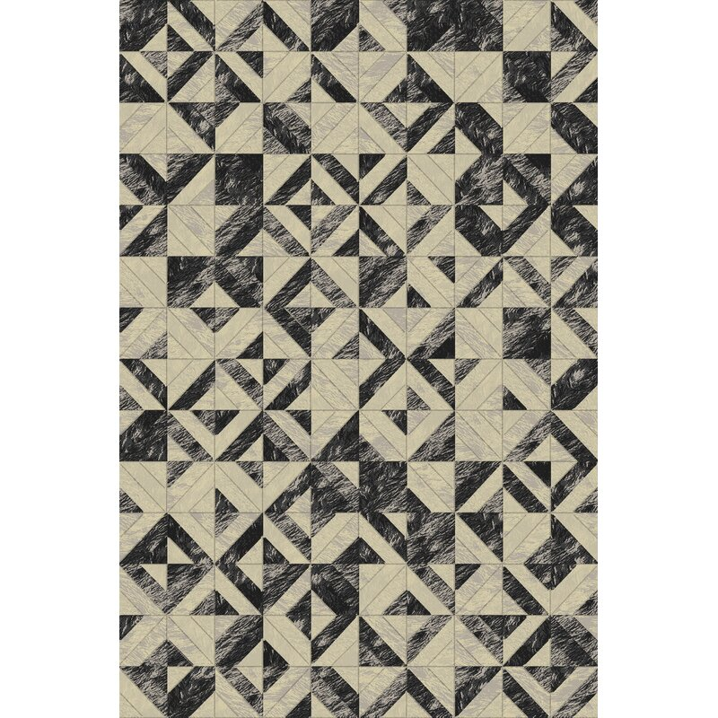 Corrigan Studio Stowers Geometric Handmade Beige Gray Area Rug Wayfair