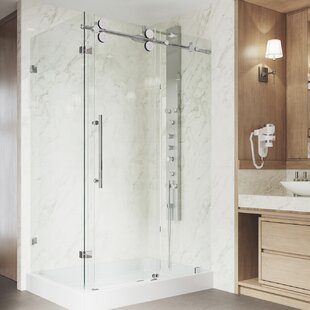 Winslow 46 5 X 79 87 Rectangle Sliding Shower Enclosure With Base Included
