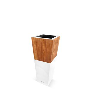 Lux Natura Fiberglass And Wood Pot Planter By Le Present