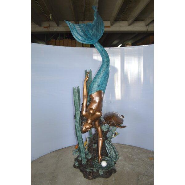 Nifao Statues Bronze Mermaid Diving For A Pearl Fountain Wayfair