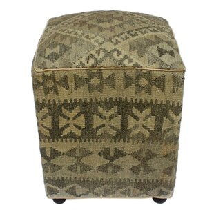 World Menagerie Reichard Kilim Cube Ottoman