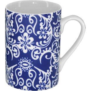 4 Piece Floral Coffee Mugs Set
