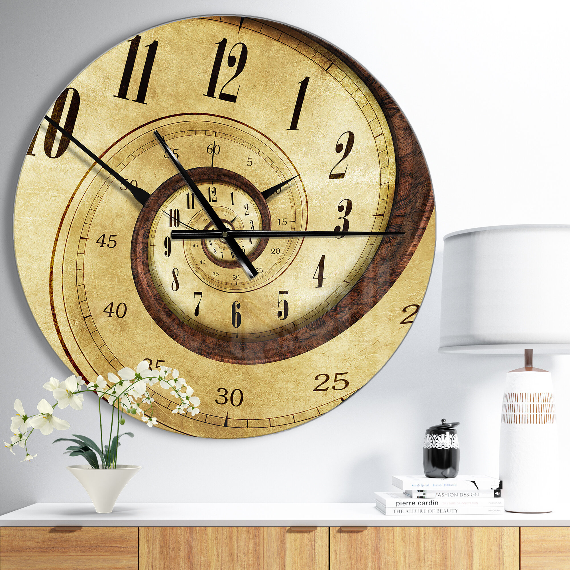 East Urban Home Designart Vintage Time Spiral Contemporary Wall ...