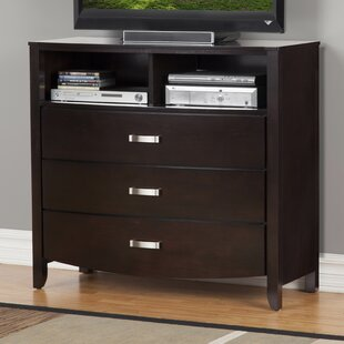 Latitude Run Rushmere 3 Drawer Media Chest