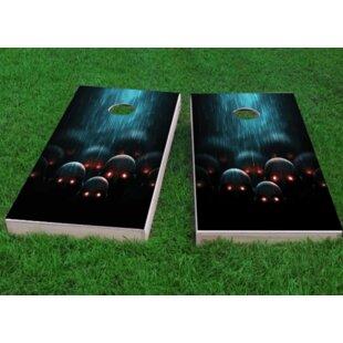 Custom Cornhole Boards Red Eyed Apocalyptic Zombies Cornhole Game (Set of 2)