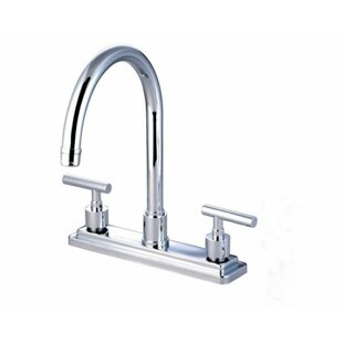 Kingston Brass Manhattan Double Handle Kitchen Faucet with Optional Side Spray