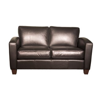 Azuela Leather Loveseat by Loon Peak