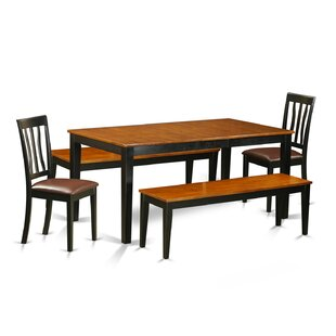 Pillar 5 Piece Extendable Solid Wood Dining Set