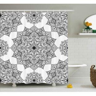 Elizabeth Middle Eastern Mosaic Secret Body and Spirit Mandala Motif Active World Image Single Shower Curtain