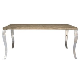 Gracie Oaks Letellier Solid Wood Dining T..