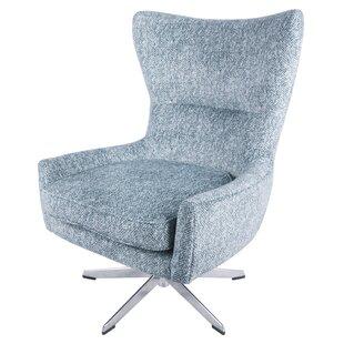 Alberto Swivel Wingback Chair by Langley Street