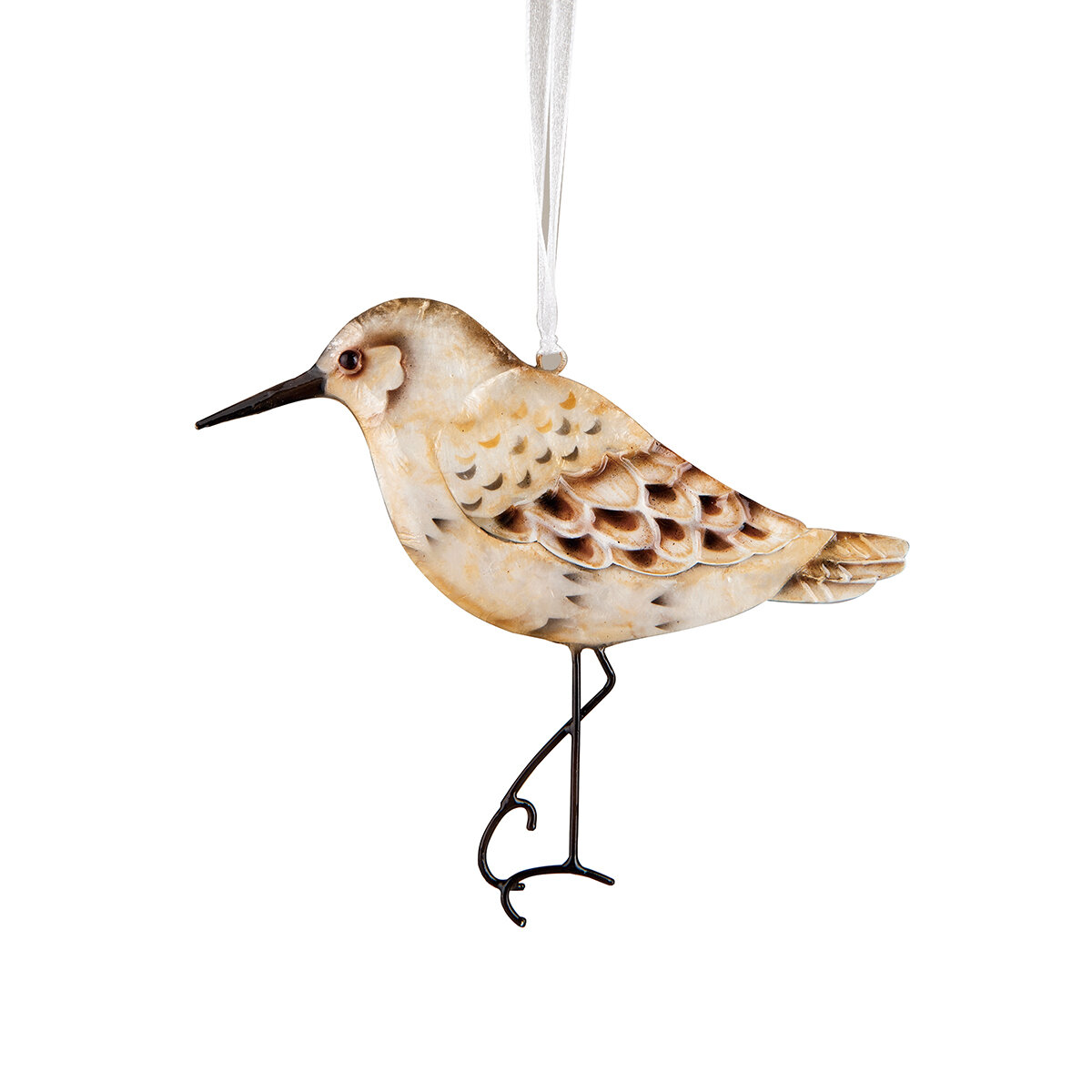The Holiday Aisle Sandpiper Pearlized Hanging Figurine Ornament Birch Lane
