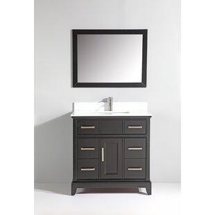 Valor 36 Single Bathroom Vanity with Mirror