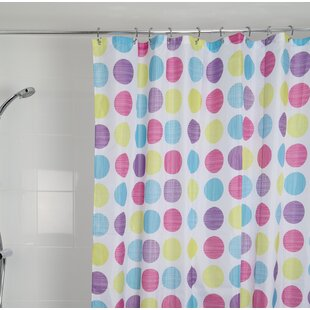 Gehrig Dots Textile Shower Curtain ByZoomie Kids