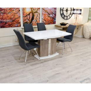 Shortridge Extendable Dining Set With 4 Chairs By Mercury Row