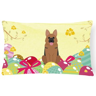 Easter Eggs German Shepherd Lumbar Pillow by The Holiday Aisle Read Reviews