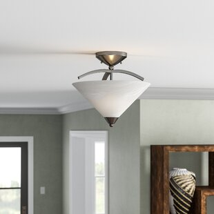 Beecroft 2-Light Semi Flush Mount by World Menagerie
