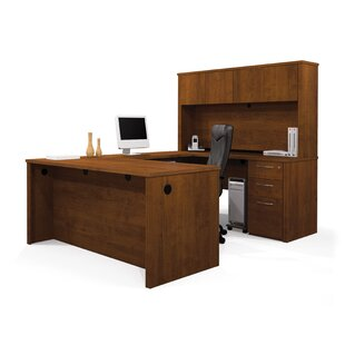 Witchel Reversible U-Shape Executive Desk with Hutch