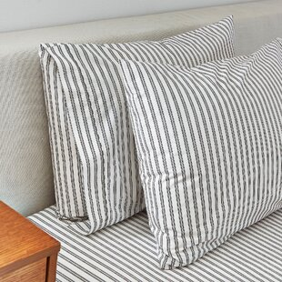 Crosshatch Jacuqard Ticking Stripe 350 Thread Count Sheet Set