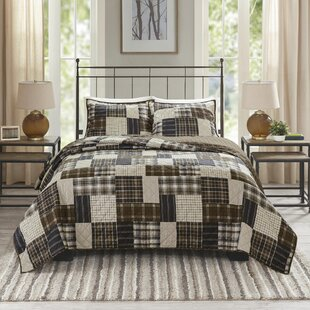 Yolanda Timber Printed Reversible Coverlet Set
