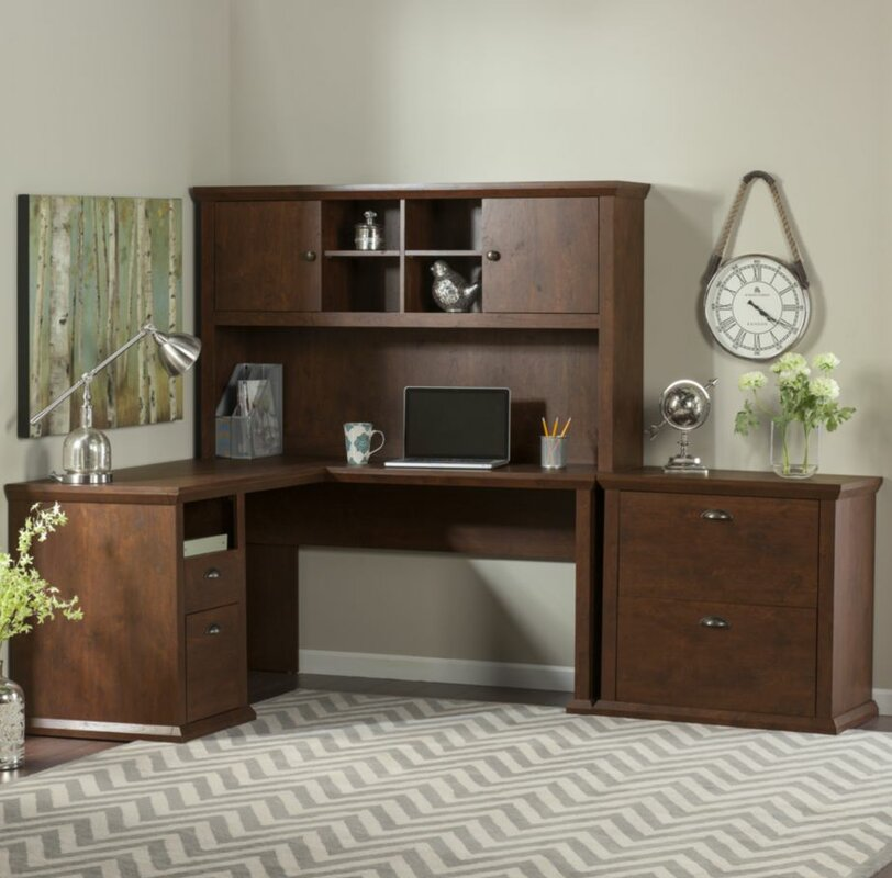 Three Posts Ferrell 4 Piece L-Shape Desk Office Suite & Reviews ...