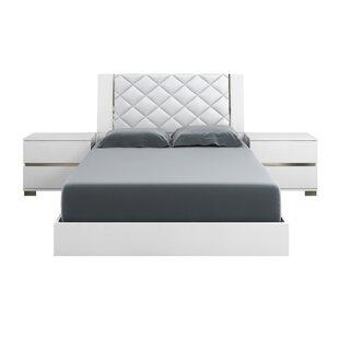 Casabianca Furniture Diamanti Upholstered Platform Bed