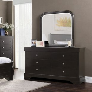 Manhattan 6 Drawer Double Dresser with Mirror