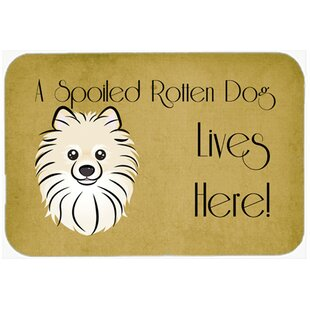 Pomeranian Spoiled Dog Lives Here Kitchen/Bath Mat By East Urban Home