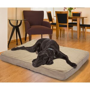Snuggle Terry and Suede Memory Foam Dog Bed
