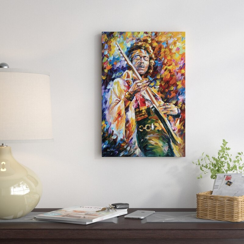 Red Barrel Studio Jimi Hendrix Wall Art on Wrapped Canvas & Reviews ...