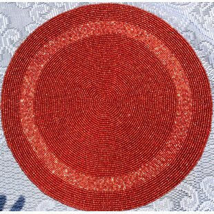 Glass Bead Braided Round Placemat (Set of 6)