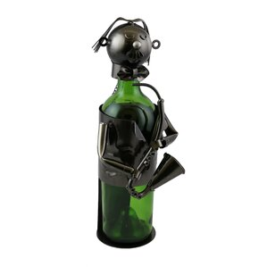 Sax Player 1 Bottle Tabletop Wine Rack by..