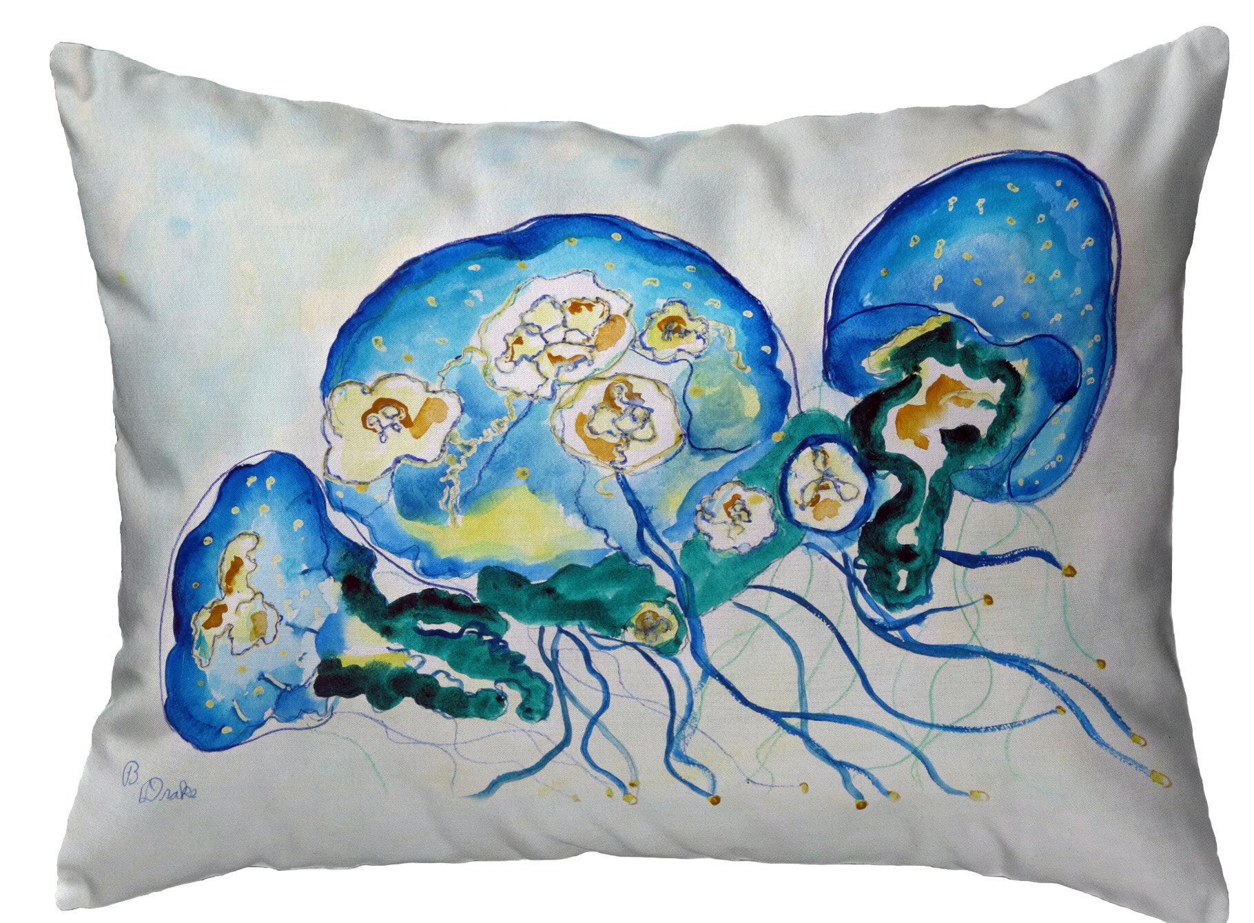 Highland Dunes Penner Multi Jellyfish Indoor Outdoor Lumbar Pillow Wayfair