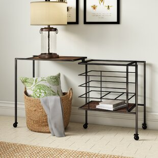 Sandtown Iron and Wood End Table by Laurel Foundry Modern Farmhouse