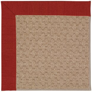 Lisle Machine Tufted Tomatoes/Brown Indoor/Outdoor Area Rug