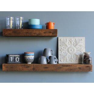 Corda Reclaimed Barn Wood Floating Wall Shelf Set Of 2
