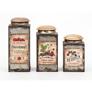 Berry Patch Lidded 3 Piece Kitchen Canister Set