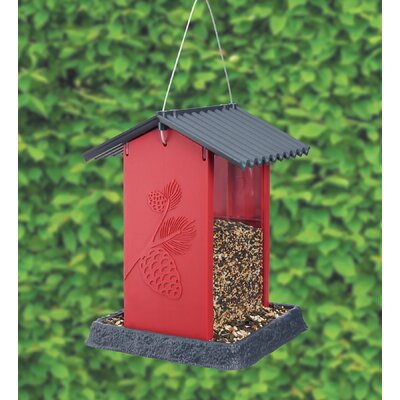 North States Pinecone Hopper Bird Feeder (Set of 2) Colour: Red