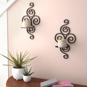 Wrought Iron Sconce (Set of 2)