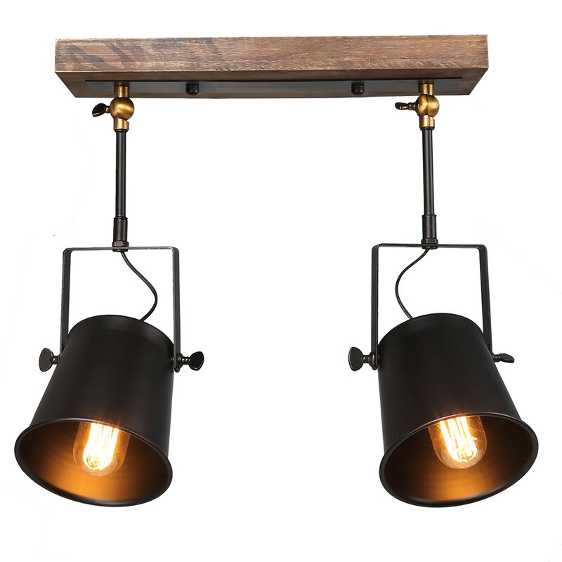 spotlight track lighting. Wood Spotlight 2-Light Track Kit Lighting N