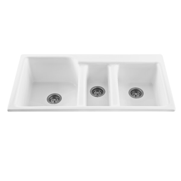 reliance whirlpools triumph 42   x 22 25   triple bowl kitchen sink  u0026 reviews   wayfair reliance whirlpools triumph 42   x 22 25   triple bowl kitchen sink      rh   wayfair com