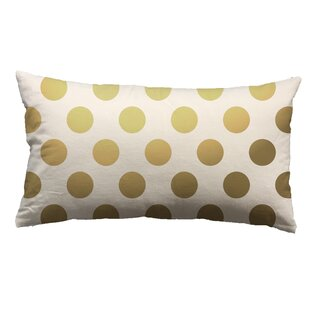 Clairsville Foil Large Dots Throw Pillow