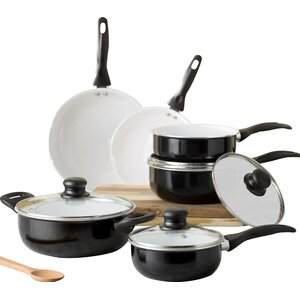 Wayfair Basics 10 Piece Nonstick Ceramic Cookware Set
