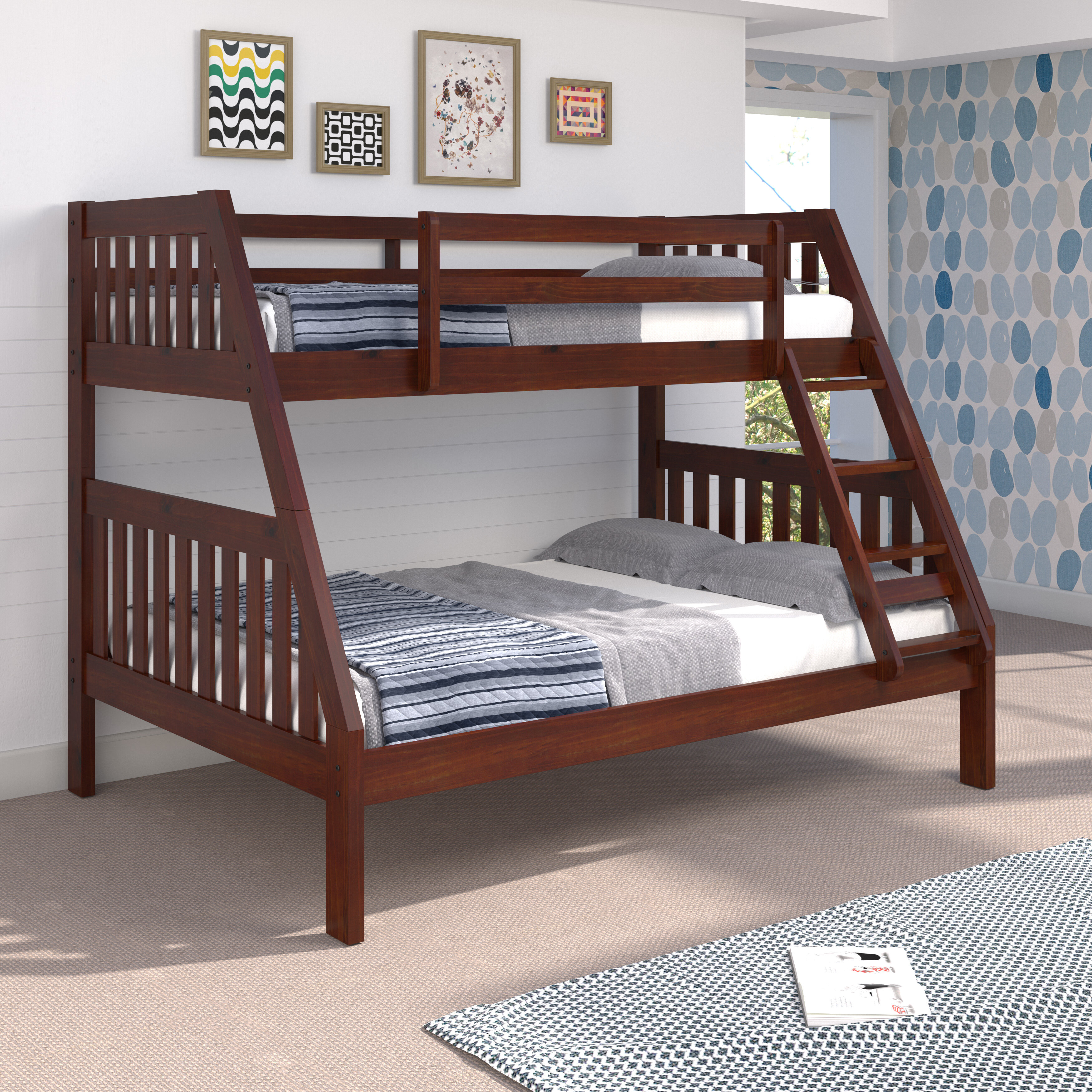 Chelsea Home Mission Twin Over Full Solid Wood Standard Bunk Bed By Chelsea Home Reviews Wayfair