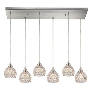 Ventnor 6-Light Cluster Pendant by House of Hampton