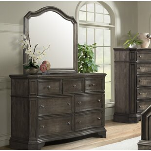 Cairns 7 Drawer Dresser with Mirror by Ophelia & Co.