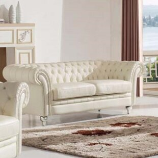 Adelina Leather Tufted Sofa