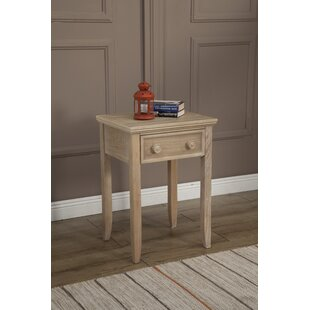 Beachcrest Home Eastweald 1 Drawer Wood Nightstand