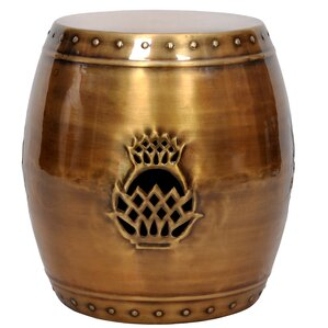Pineapple Drum Garden Stool  sc 1 st  Wayfair & Brass Accent u0026 Garden Stools Youu0027ll Love | Wayfair islam-shia.org