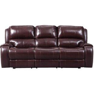 Oreana Leather Reclining Sofa